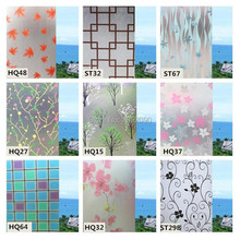 Hot Sale 45cm*200cm Frosted Privacy Glass Window Film  Adhesive Window Sticker Home Decor Water Transfer Printing Film Bathroom