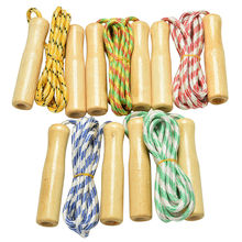 1PCS High Quality Toy Sports Skipping Rope Wood Grip Handle Children Kid Fitness Equipment Training Practice Speed Jump(China)