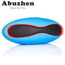 Abuzhen Mini Wireless Bluetooth Speaker Sound Box Rugby Portable Audio Player Music for phone PC Subwoofer with TF USB Player(China)