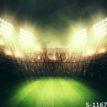 8x8FT Custom Photography Backgrounds Studio Backdrops Spots Light Football Soccer Field Stadium Audience Arena Kids Vinyl 10x10