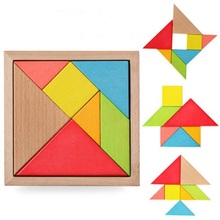 1Pcs Durable Geometric Wooden Jigsaw Puzzles Kids Education Mental Development Toys For Children Board Games