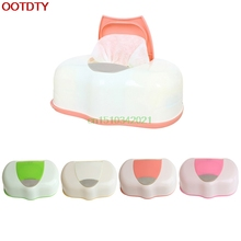 Wet Wipes Box Plastic Wet Tissue Automatic Case Pop-up Design Tissue Case Baby Wipes Storage Organizer Box(China)