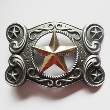 Distribute Belt Buckle Western Gold Star Original  Belt Buckle Free Shipping 6pcs Per Lot Mix Style is Ok