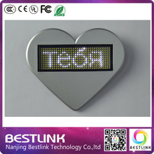 muti-color led name card tag led moving messages rechargeable and programmabe business card, new year gifts