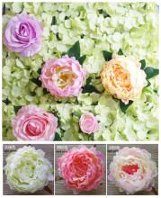 DIY artificial peony flower heads Multicolor Road lead wedding flower Bouquet hotel background wall decor
