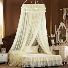 queen size canopy bed net hung dome mosquito net for adult bed canopy mosquito bed net yellow bed canopy(China)