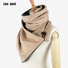 Leo anvi design Winter scarf Fashion Knit Mens infinity Scarf,Button Cowl Neck warmer Chunky tube Scarf women Gift scarves wraps(China)