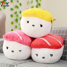 Plush Japan Rice Sushi Salmon Tuna Toy Stuffed Doll Office Nap Pillow Home Shop Decoration Girlfriend Kids Birthday Gift Triver