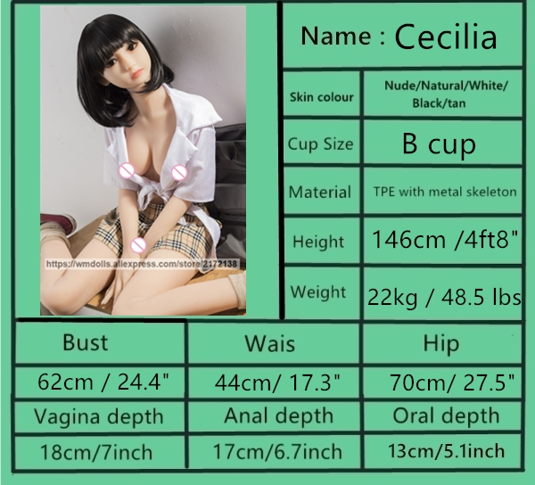 WMDOLL Silicone Sex Dolls 146cm Real Sized Sex Robot Dolls Sexy For Men Toys