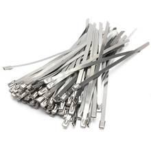 Strong Stainless Steel Marine Grade Metal Cable Ties Zip Tie Wraps Exhaust(China)