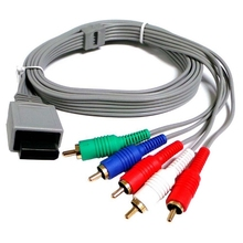 Component 1080 P HDTV AV Audio Adapter Cable Cord Wire 5RCA For Nintendo Wii