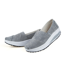 Hot 2016 Solid Canvas Shoes For Women Platform Slip On Shoes For Womens Leather Pigskin  sapato feminino