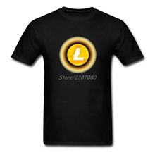 Litecoin Yellow T Shirt Cotton Crewneck Short Sleeve Brand Clothing Popular Streetwear 3XL Tee Shirts Homme(China)