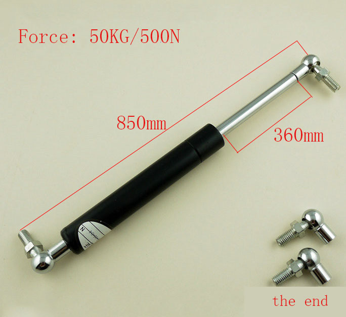 free shipping   850mm central distance, 360mm stroke, Ball End Lift Support Auto Gas Spring, Shock absorber<br>