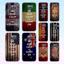 keep calm and carry on grunge flag transparent clear hard case cover for Samsung Galaxy s6 s7 edge s4 s5 mini note 4 note5