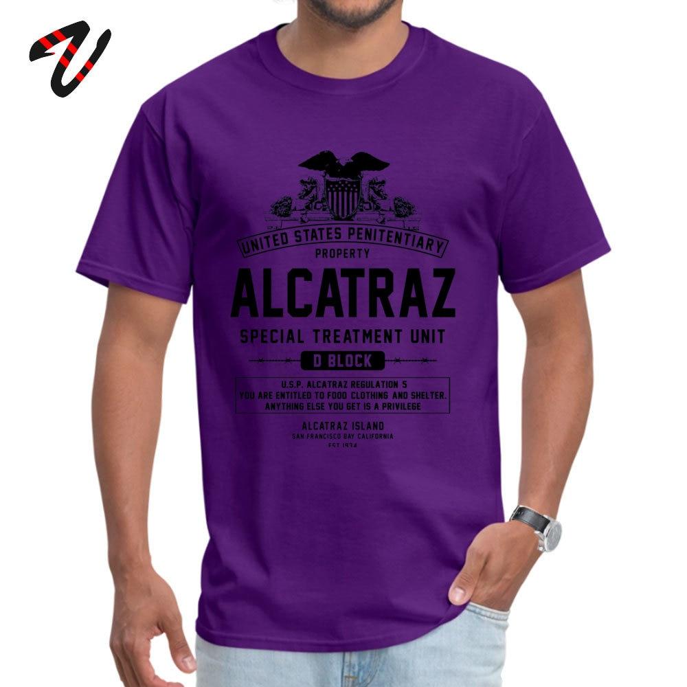 ALCATRAZ S.T.U. Newest Short Sleeve Geek Top T-shirts 100% Cotton O-Neck Men Tops Shirt Birthday T Shirts ostern Day ALCATRAZ S.T.U. 6276 purple