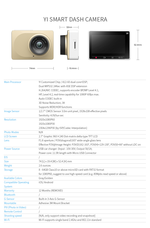 "HTB1IwLnxuuSBuNjSsplq6ze8pXa3 YI Smart Dash Camera Video Recorder WiFi Full HD Car DVR Cam Night Vision 1080P 2.7"" 165 Degree 60fps Camera For Car Recording"
