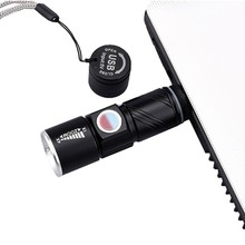 USB Handy LED Torch usb Flash Light Pocket LED  Flash Light Bike Rechargeable Flashlight Zoomable Lamp For Hunting Black