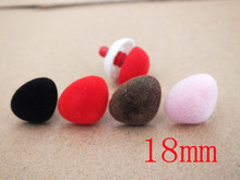 40pcs 18mm Mixed colors Teddy Bear Noses Safety Noses --Each color 10pcs(China)
