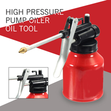Buy Universal Autos Oil Pump Action Oiler 250ml Lubrication Feed Can Spray Guns Pot Oil Can Plastic Machine Oiler Grease