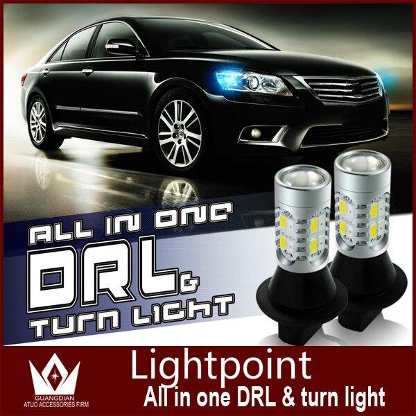 Guang Dian car led light LED DRL For OKTAVIA 1 MK head lamp led bulb Car Daytime Running Light&amp;Turn Signal Light all in one<br><br>Aliexpress