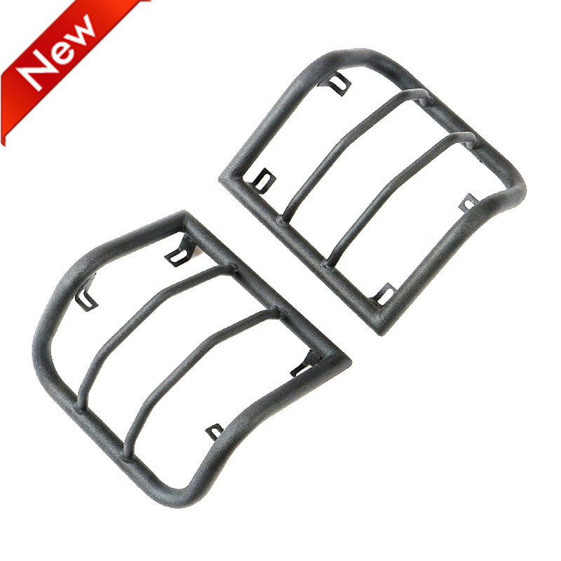 New Black Steel Rear Light Guards Guards for Jeep ...