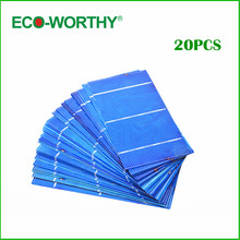 ECO-WORTHY 20pcs 3x6 Polycrysatlline Sillion Solar Cells 156*78mm Cell Solar Cell for DIY 40W Solar Panel Free Shipping