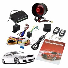 1-Way Car Protection Vehicle Alarm Security System Entry Keyless Siren +2 Remote hot C45