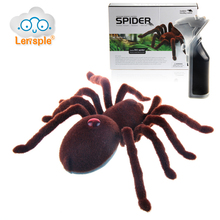 Lensple Hot Sale 2CH Infrared RC Realistic Spider Prank Remote Control Toy Party Stage Props Electronic Toy Gifts For Kids(China)