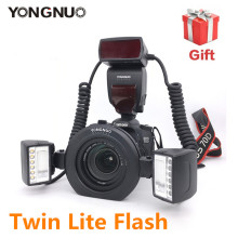 Upgrade YONGNUO Macro Twin Flash Speedlite Ring flash YN24EX E TTL for Canon Cameras (Similar to Canon MT-24EX )Macro shooting