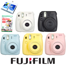Fujifilm Fuji Instax Mini 8 Camera + 10PCS Fujifilm Instax Mini White Film for Mini 8 70 25 Camera White Pink Yellow Blue Black