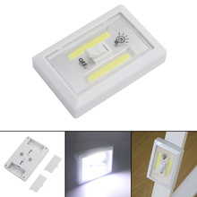 Magnetic Mini COB LED Cordless Lamp Switch Wall Night Lights Battery Operated Kitchen Cabinet Garage Closet Camp Emergency Light