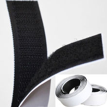 2 Rolls 1m Black Hook and Loop Self Adhesive Fastener Strong Tape Hook and Loop adesivo sugru  Tape Velcro adhesive