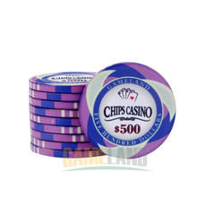 Poker Chips Professional Casino Chip Texas Casino Chip 10g Ceramic Baccarat Coin Square Chips High Quality poker Set Wholesale(China)