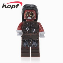 Super Heroes Star Wars Hobbit Lord Rings Uruk- Hais Wraith Mordor Orc Building Blocks Bricks Toys children XH 474 - Minifigures store