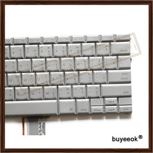 "Original Silver A1138 A1139 Thai Keyboard For Apple Powerbook G4 15"" A1138 A1139 Laptop Keyboard Repalcement with Backlight"