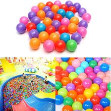 200pcs/set 40mm Secure Colorful Ball Soft Plastic Ocean Ball Funny Baby Kid Swim Pit Toy Water Pool Ocean Wave Ball(China)