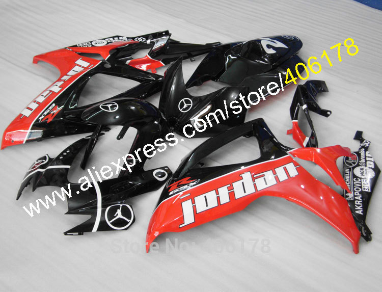 Hot Sales,For 2006 2007 SUZUKI K6 GSXR 600 GSXR 750 Jordan 06 07 GSX-R600 GSX-R750 custom bodywork fairing (Injection molding)(China)