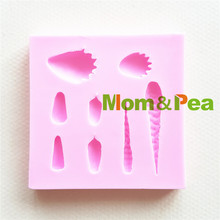 Mom&Pea 1450 Free Shipping Succulent Plant Mini Leaf Mold Cake Decoration Fondant Cake 3D Mold Soap Mold Food Grade(China)