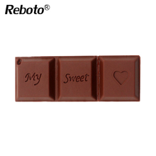Reboto Flash USB Drive Love Sweet Chocolate Flash Drive 4GB 8GB 16GB 32GB 64GB USB 2.0 Flash Memory Stick Flash Drive Pendrive