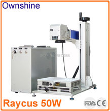 Raycus 50W fiber laser marking machine for marking and cutting thin  metal sheet ,stainless steel,silver,gold,Polar alumina