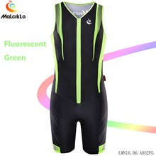 Factory-direct-clothing Malciklo Fluor green Cycle Jumpsuit Sleeveless High-quality Elastic Cycling Coverall 2017 Bike Jersey