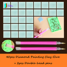 Wholesale DIY Diamond Painting Clay Glue with Diamond Drawing Accessory Double-head Dual-use Pen Set S0176H