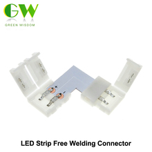 LED Strip Connector 2pin 10mm L Shape / T Shape / X Shape Free Welding Connector 5pcs/lot.