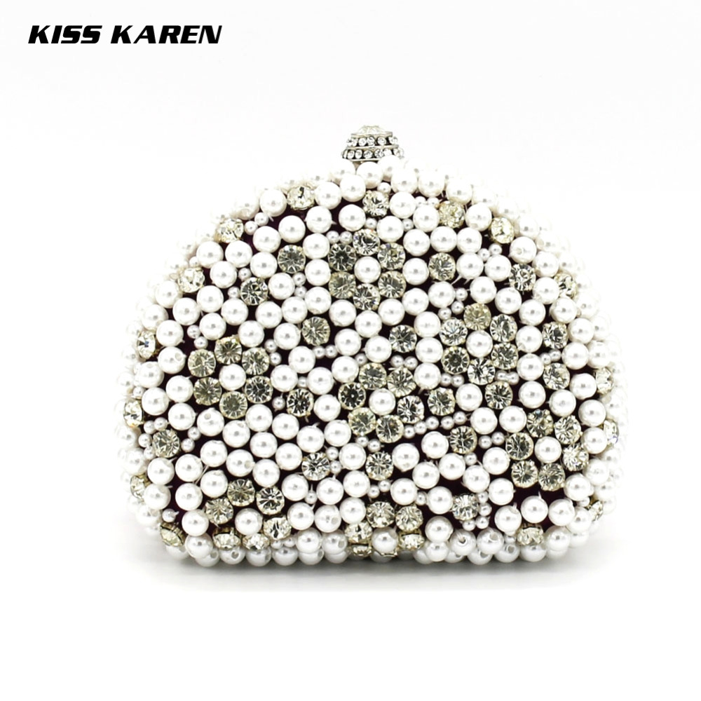 Kiss Karen Beautiful Beaded Pearl Hobos Womens Clutches bolsos Elegant Evening Bag Women Party Clutch Bags Club Lady Minaudiere<br><br>Aliexpress