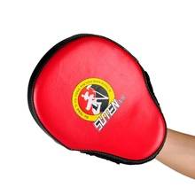 New Taekwondo Target Brand PU Leather Training Equipment Punching Kicking Pad Curved Target MMA Boxing Curved Punch Pad