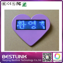 led moving messages programmable mini led sign B1236X led name card business card rechargeable led name tag with magnet