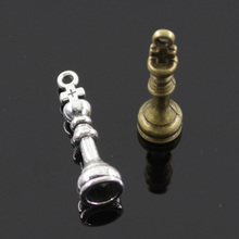 Charms chess king 20pcs 27*8mm Tibetan Silver Bronze Plated Pendants Antique Jewelry Making DIY Handmade Craft