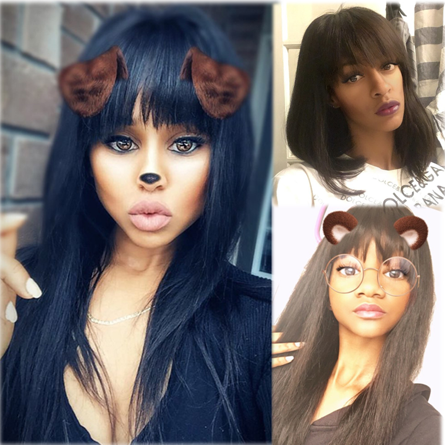 Where to buy 8 to 20inch Lace Front Human Hair Wigs With Baby Hair Straight Human Hair Lace Front Wigs Originea Hair