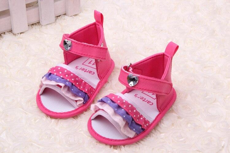 2015 Lovely 1pair Flower summer Baby shoes antiskid Girl First Walkers,Cheap Soft Shoes,Brand toddlers/Newborn Prewalker<br><br>Aliexpress